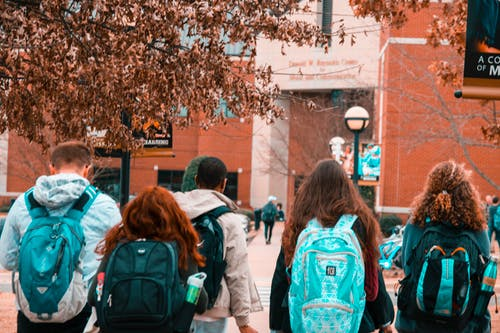 students returning to campus